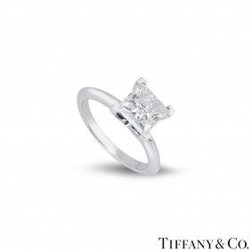 Tiffany & Co. Platinum Princess Cut Diamond Ring 2.04ct F/VS1 XXX